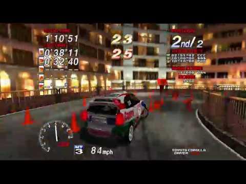 Sega Rally 2 - Secret Cone MINIGAME (4k 60 fps)