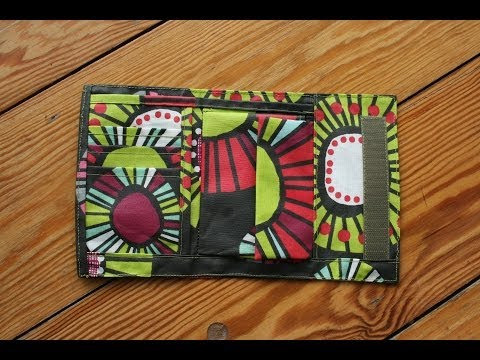 Portemonnaie von Funfabric mit kostenlosem Schnittmuster - YouTube
