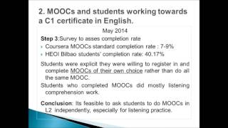 MOOCs AND ADULT LANGUAGE LEARNERS
