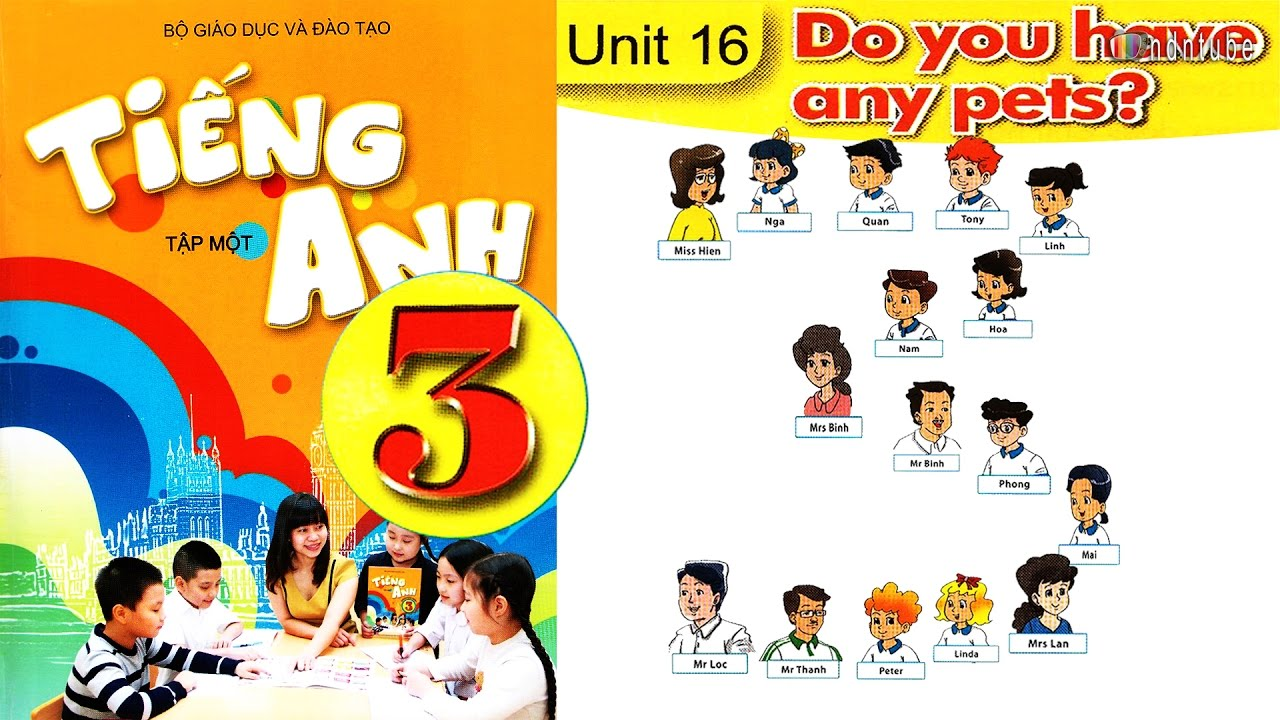 Tiếng Anh Lớp 3: UNIT 16 DO YOU HAVE ANY PETS – FullHD 1080P