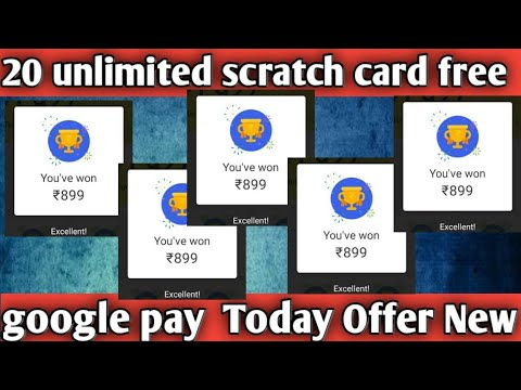 Google Pay New Offer Today Earn 20 Scratch Card Free