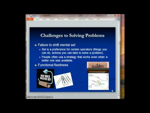Challenges to Problem Solving