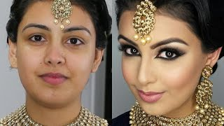 Indian/Bollywood/South Asian Bridal Makeup | Start to Finish | Mona Sangha