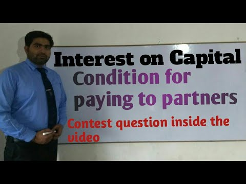 Interest on Capital,  Conditions for paying to partners