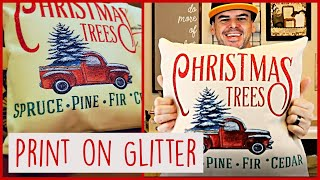 How to Sublimate on Heat Transfer Glitter Vinyl using a Cricut