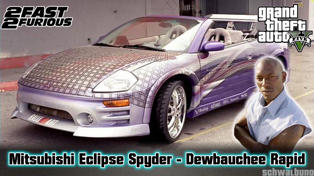Mitsubishi Eclipse 2015 >> GTA 5 2Fast 2Furious - Roman's Mitsubishi Eclipse Spyder (Rapid GT) Car Build #28 - YouTube
