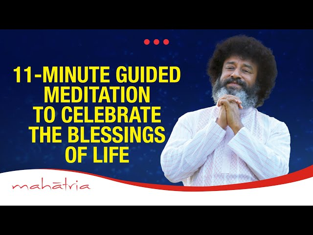 11-Minute Guided Meditation To Celebrate The Blessings Of Life | 11 Minutes Can Change Your Life