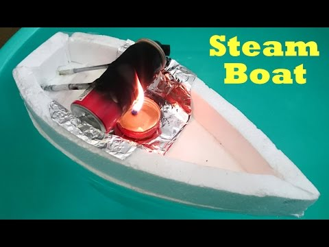 How to Make a Steam Boat using bottle at Home