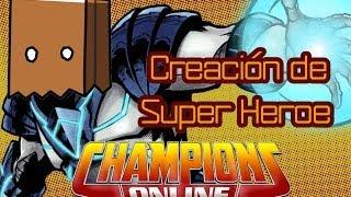 Champions Online creación de Super Heroe