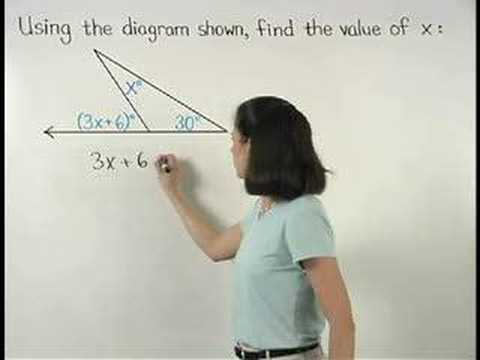 Exterior angle theorem geometry help - The exterior angle theorem answers ...