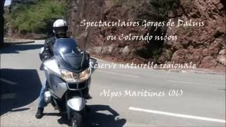 Gorges de Daluis en moto
