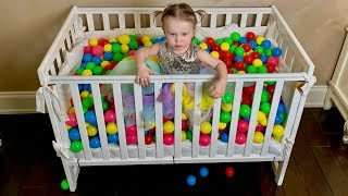 Color Balls and Stefy funny play pretend