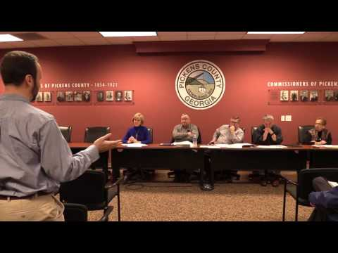 Pickens County Board of Commissioners Work Session ~ January 2017