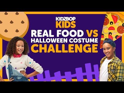 Real Food vs. Halloween Costume Challenge with The KIDZ BOP Kids
