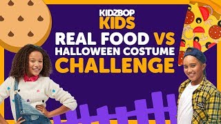 Real Food vs. Halloween Costume Challenge with The KIDZ BOP Kids