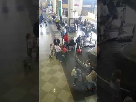 MDC supporters gathered to welcome Tafadzwa Musekiwa at Harare International Airport