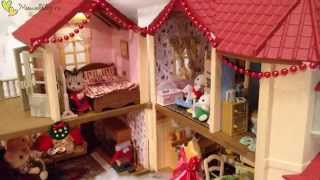 Обзор Sylvanian families city house with lights/Домик с мебелью!