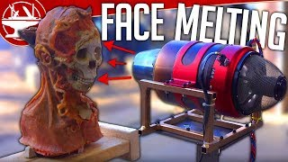 One of the Hacksmith's most viewed videos: Jet Engine VS FACE (Flying Like Iron Man Update)