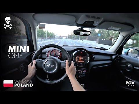 🟩 2017 MINI ONE (102HP) POV TEST DRIVE • DRIVE AROUND WARSAW POLAND /// POVDRIVE