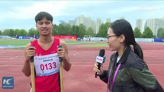China's ethnic games: Stilt race