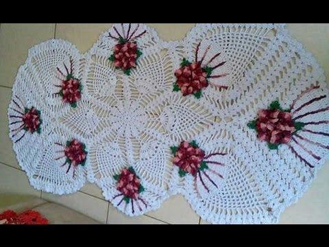 Gráficos daToalha/Centro/Trilho/Caminho de Mesa em Crochê em Ponto Abacaxi Com Cristina Coelho Alves