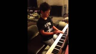 Joey playing Looney Tunes on the Piano