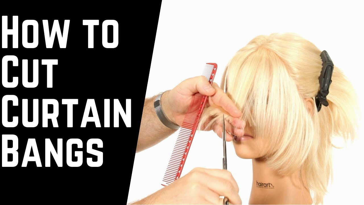 How To Cut Curtain Bangs Thesalonguy Youtube