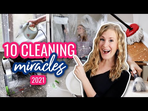 10 MIRACLE CLEANERS you SHOULD be buying! ❤️ Dollar Tree + how to clean faster w/ @Do It On A Dime