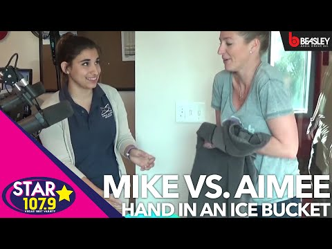 Can Mike or Aimee keep their hand in ice water longer?