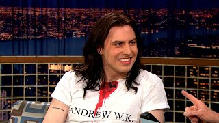 """Andrew W.K. Shares The Key To Writing A Good Party Song - """"Late Night With Conan O'Brien"""""""