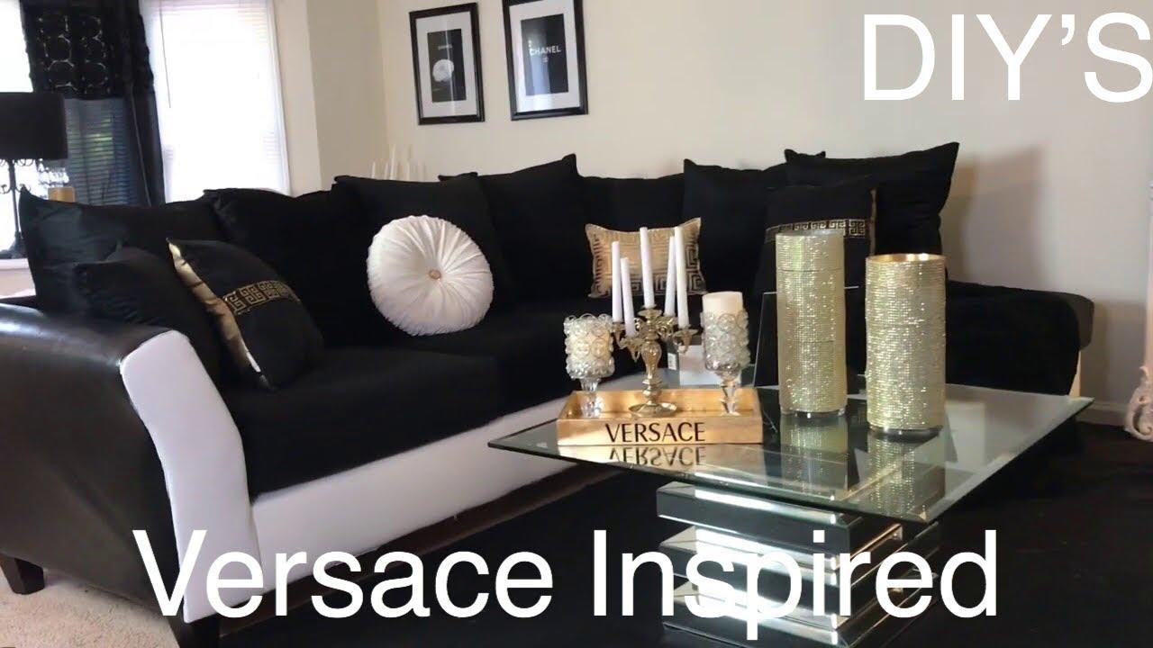 Black White And Gold Living Room Tour, Black White And Gold Living Room