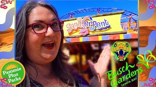 Busch Gardens | Sandserpent Roller Coaster | Fat Friendly | Plus Size Ride