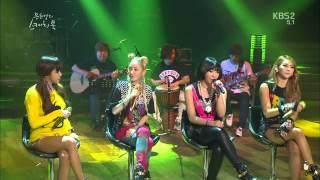 2NE1 - Falling In Love(Acoustic Ver) & Do You Love ME @ Sketch Book . E201 130830
