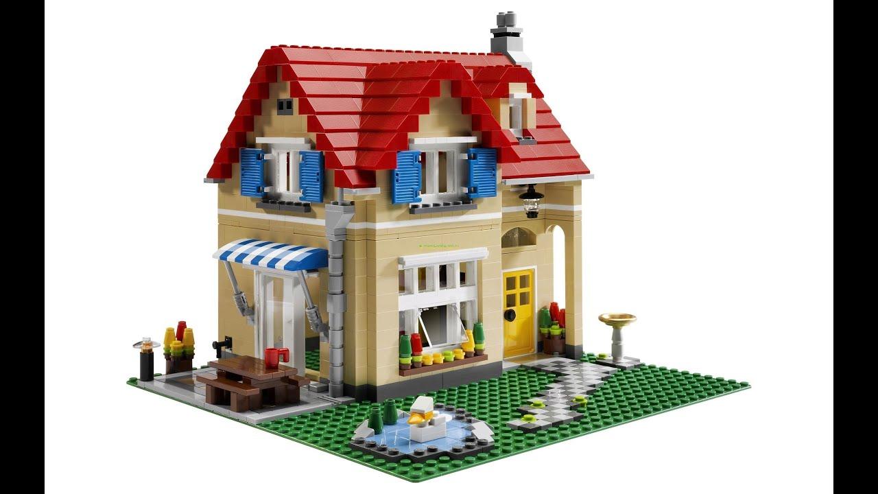 Схема дома из кубиков