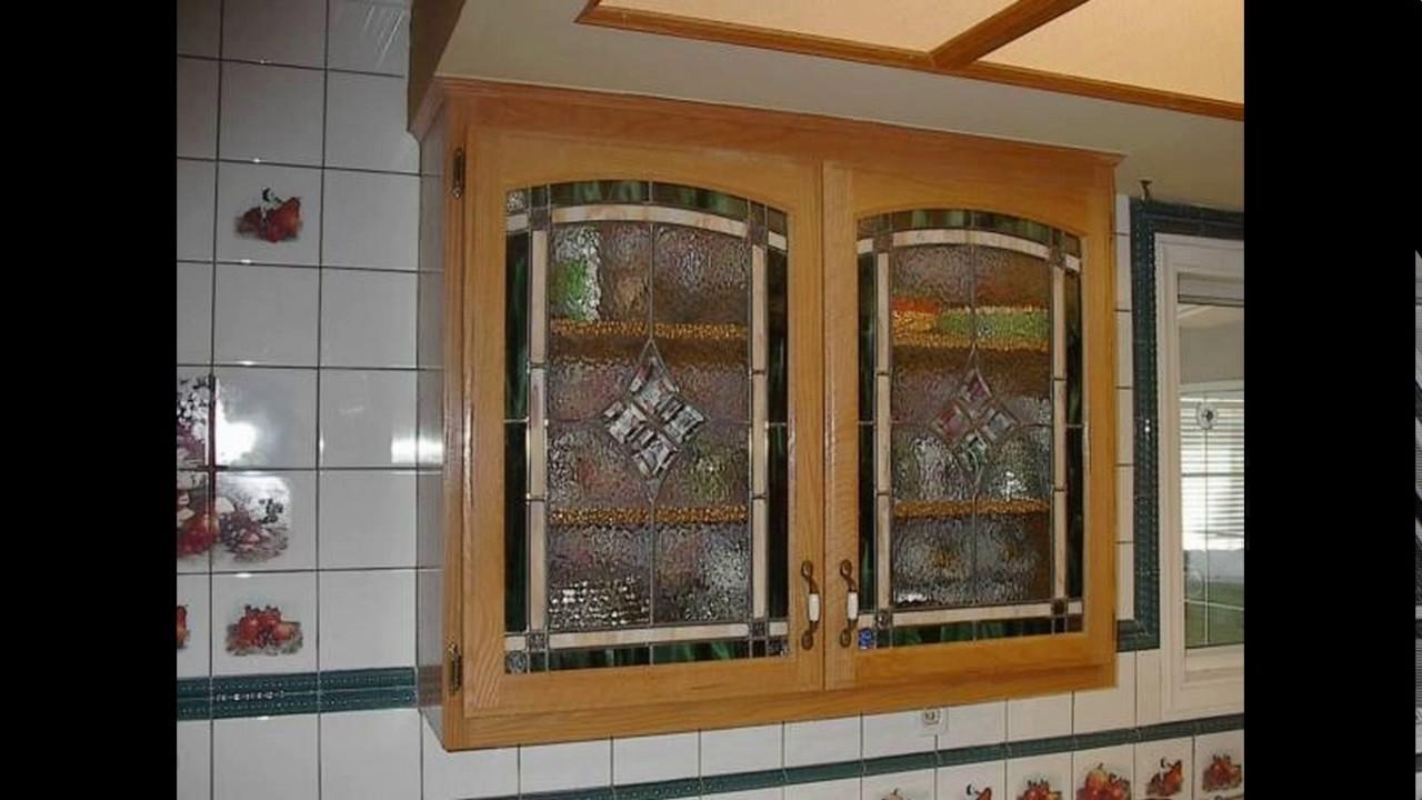Kitchen cupboard glass door designs - YouTube