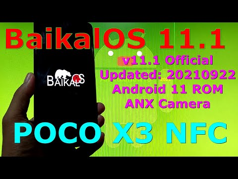 BaikalOS 11.1 OFFICIAL for Poco X3 NFC (Surya) Android 11 - Updated: 20210922