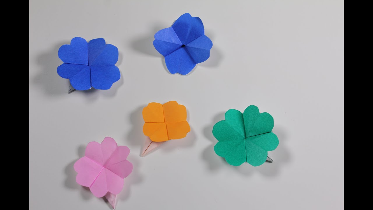 how to make an origami clover youtube