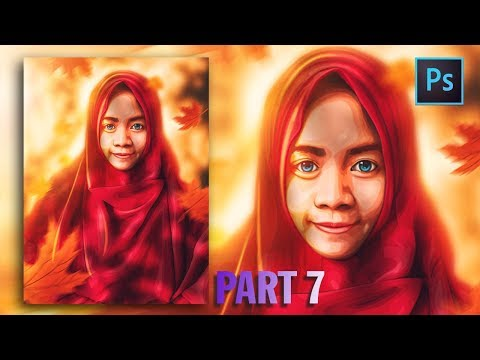 [Photoshop Tutorial] HOW TO CREATE VECTOR/VEXEL HIJAB IN PHOTOSHOP [PART 7- HIJAB] thumbnail