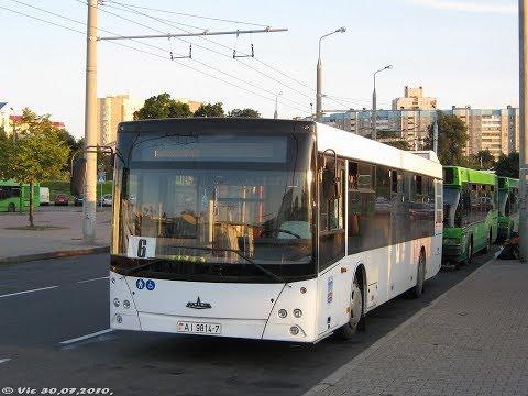 Автобус Минска МАЗ-203.076,гос.№ АI 9814-7, марш.6 (20.09.2019)