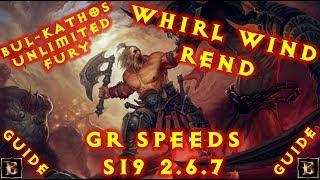 Diablo 3 S19 WW Rend Barb Bul-Kathos Oath GR Speeds 2.6.7 Build