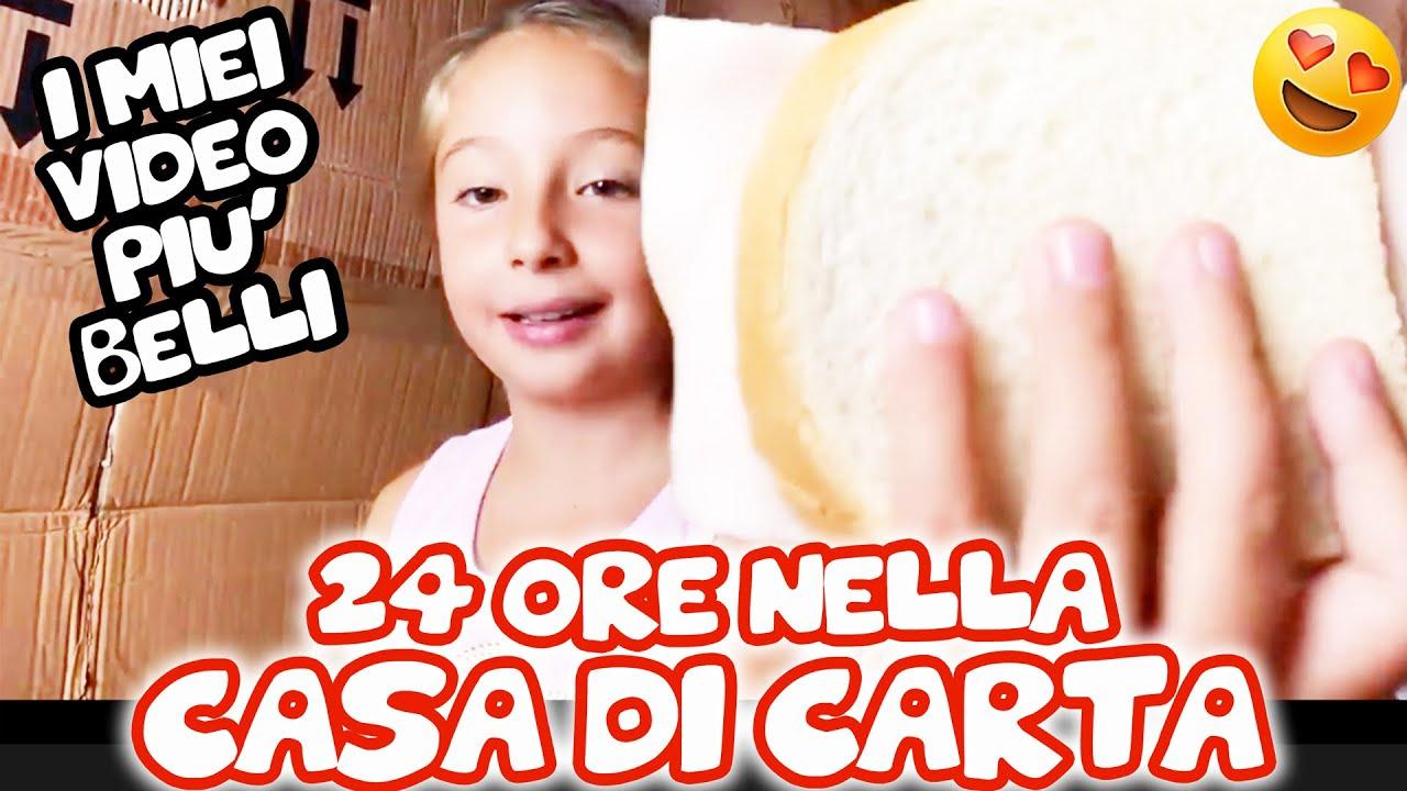 😍 24 ORE NELLA CASA DI CARTA ! - I MIEI VIDEO PIÙ VISTI DI SEMPRE