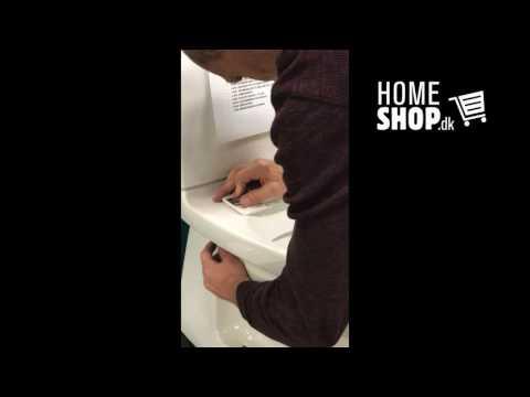 Skyl-Let toilet sæde installeret på IfÖ toilet - køb online hos Homeshop.dk