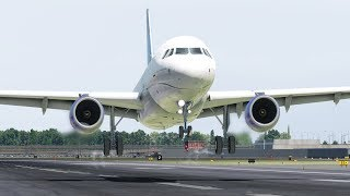 United Airlines A319, Emergency Landing Due to Hydrolic Problems, Newark Airport | X-Plane 11