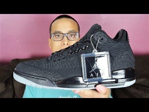 148f4358d9e6 Best Jordan 3 Ever ! How s Quality  My Honest Opinion! Air Jordan 3 Flyknit  Black Review!