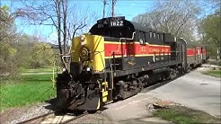 CVSR 1822  Alco departs Akron Northside station Cuyahoga Valley Scenic Railroad