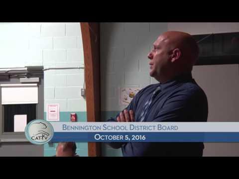Bennington School District Board - 10/5/16