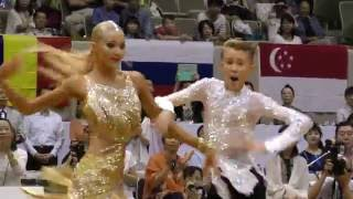 4K 2016 WDSF Open Youth Latin in Japan | Glenn-Richard Boyce - Caroly Janes, UK | Final Solo Jive