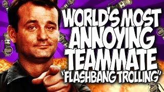 "Cod Bo2: World's Most Annoying Teammate!! Messing With Randoms! ""flashbang Trolling"""