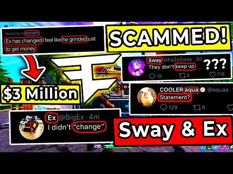 Ghost Ex Has Changed ? - FaZe Sway Argument , Bugha Loses $3 MILLION ,Dubs -  Aqua & Nyhrox New Duo