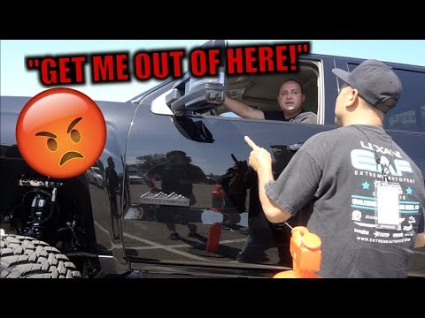 WE ALMOST GOT KICKED OUT OF A TRUCK SHOW! (HE'S MAD!)